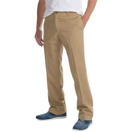 Charleston Khaki by Berle Enzyme-Washed Pants - Flat Front (For Men) in British Tan - Closeouts