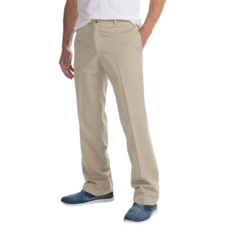 Charleston Khaki by Berle Enzyme-Washed Pants - Flat Front (For Men) in Stone - Closeouts