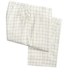 Charleston Khaki by Berle Linen Pants - Flat Front (For Men) in White/Tan - Closeouts