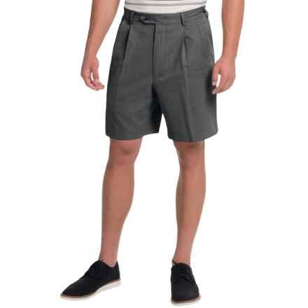 Charleston Khaki by Berle Pleated Herringbone Shorts (For Men) in Black - Closeouts