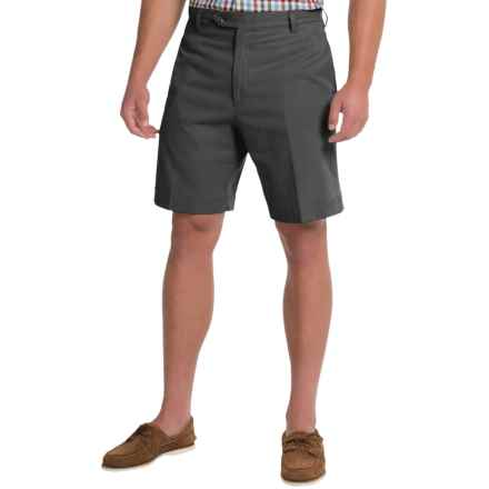 Charleston Khakis by Berle BH9 Herringbone Shorts (For Men) in Black - Closeouts
