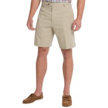 Charleston Khakis by Berle BH9 Herringbone Shorts (For Men) in Khaki - Closeouts
