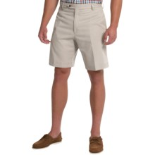 Charleston Khakis by Berle BH9 Herringbone Shorts (For Men) in Stone - Closeouts