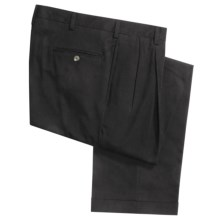 Charleston Khakis by Berle Cotton Blend Pants - Pleats (For Men) in Black - Closeouts