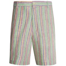 Charleston Khakis Linen Shorts (For Men) in Multi Stripe - Closeouts