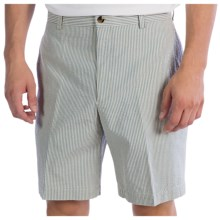 Charleston Khakis Seersucker Shorts - Flat Front (For Men) in Blue/Cream - Closeouts