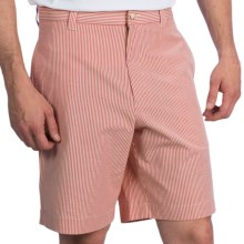 Charleston Khakis Seersucker Shorts - Flat Front (For Men) in Red/Tan - Closeouts