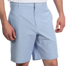Charleston Khakis Seersucker Shorts - Flat Front (For Men) in Royal Blue/White - Closeouts