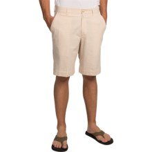 Charleston Khakis Seersucker Shorts - Flat Front (For Men) in Tan/White - Closeouts