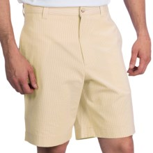 Charleston Khakis Seersucker Shorts - Flat Front (For Men) in Yellow/White - Closeouts