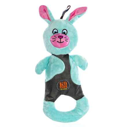 Charming Pet Patches Bunny Dog Toy - Squeaker in Multi - Closeouts
