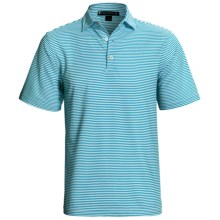 Chase Edward Chase Stripe High-Performance Polo Shirt - Short Sleeve (For Men) in Bayou - Closeouts