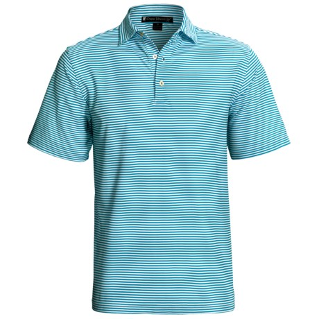 Chase Edward Chase Stripe High-Performance Polo Shirt - Short Sleeve (For Men) in Bayou