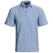 Chase Edward Chase Stripe High-Performance Polo Shirt - Short Sleeve (For Men) in Dutch Blue - Closeouts