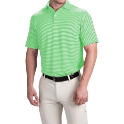 Chase Edward Chase Stripe High-Performance Polo Shirt - Short Sleeve (For Men) in Green/White