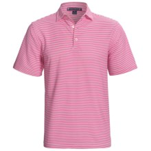 Chase Edward Chase Stripe High-Performance Polo Shirt - Short Sleeve (For Men) in Magenta - Closeouts