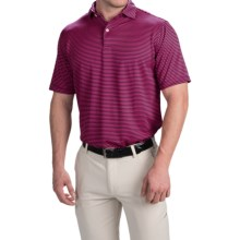 Chase Edward Chase Stripe High-Performance Polo Shirt - Short Sleeve (For Men) in Navy/Pink - Closeouts