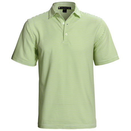 Chase Edward Chase Stripe High-Performance Polo Shirt - Short Sleeve (For Men) in Dutch Blue