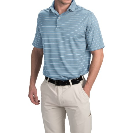 Chase Edward Cole Polo Shirt - Short Sleeve (For Men) in Blue/White