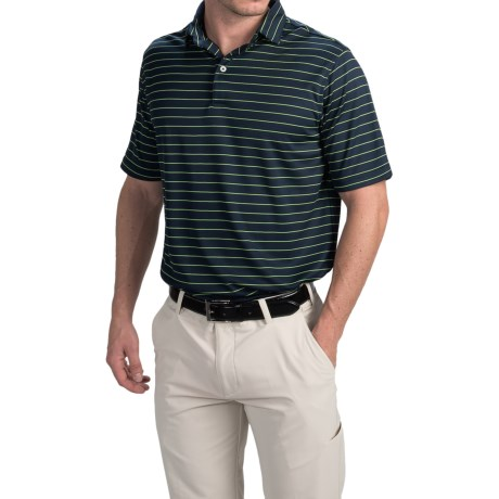 Chase Edward Cole Polo Shirt - Short Sleeve (For Men) in Navy/Green