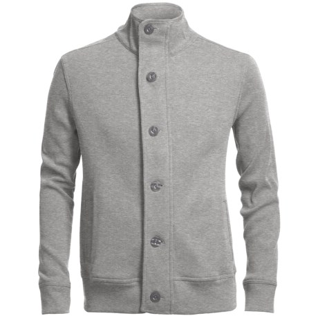 Chase Edward Cotton Knit Jacket (For Men) in Garrett White