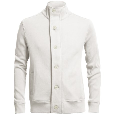 Chase Edward Cotton Knit Jacket (For Men) in Ivory