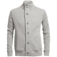 Chase Edward Cotton Knit Jacket (For Men) in Light Heather Grey - Closeouts