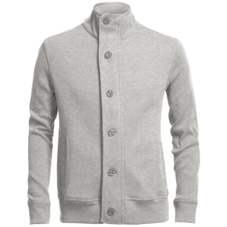 Chase Edward Cotton Knit Jacket (For Men) in Light Heather Grey