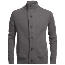Chase Edward Cotton Knit Jacket (For Men) in Medium Heather Grey - Closeouts