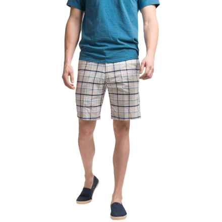 Chase Edward Cotton Plaid Shorts (For Men) in Tan - Closeouts