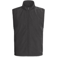 Chase Edward Microfiber Reversible Vest - Full Zip (For Men) in Black - Closeouts