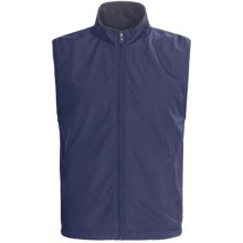 Chase Edward Microfiber Reversible Vest - Full Zip (For Men) in Navy - Closeouts