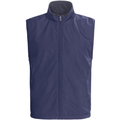 Chase Edward Microfiber Reversible Vest - Full Zip (For Men) in Navy