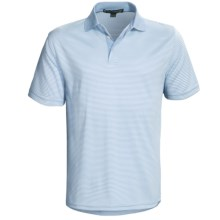 Chase Edward Reed Striped Polo Shirt - Short Sleeve (For Men) in Arctic Blue - Closeouts