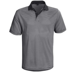Chase Edward Reed Striped Polo Shirt - Short Sleeve (For Men) in Navy