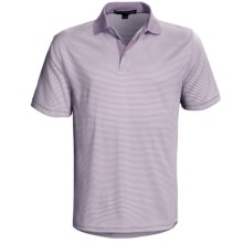 Chase Edward Reed Striped Polo Shirt - Short Sleeve (For Men) in Wisteria - Closeouts