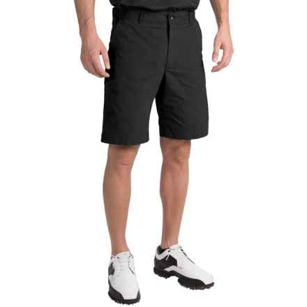 Chase Edward Solid Golf Shorts (For Men) in Black - Closeouts