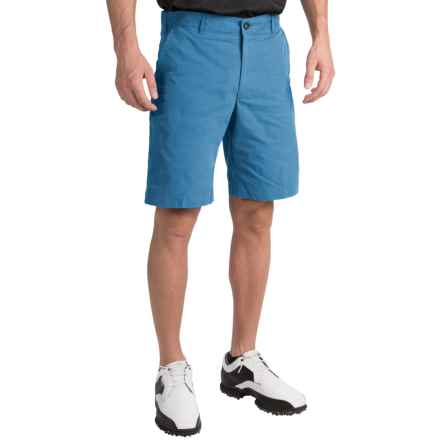 Chase Edward Solid Golf Shorts (For Men) in Blue - Closeouts