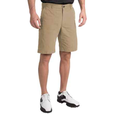Chase Edward Solid Golf Shorts (For Men) in British Khaki - Closeouts