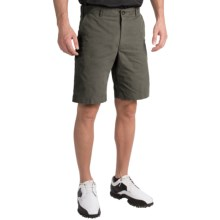 Chase Edward Solid Golf Shorts (For Men) in Charcoal - Closeouts
