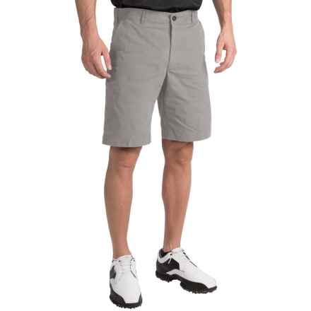 Chase Edward Solid Golf Shorts (For Men) in Grey - Closeouts
