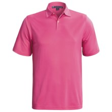 Chase Edward Solid High-Performance Pique Polo Shirt - Short Sleeve (For Men) in Magenta - Closeouts