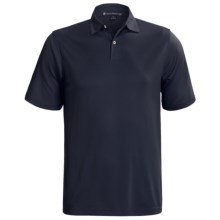 Chase Edward Solid High-Performance Pique Polo Shirt - Short Sleeve (For Men) in Navy - Closeouts