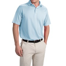 Chase Edward Solid High-Performance Polo Shirt - Short Sleeve (For Men) in Light Blue - Closeouts