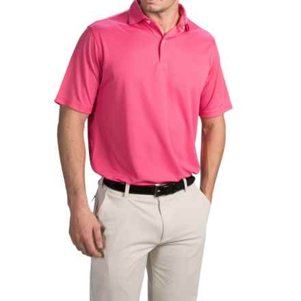 Chase Edward Solid High-Performance Polo Shirt - Short Sleeve (For Men) in Pink - Closeouts