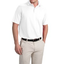 Chase Edward Solid High-Performance Polo Shirt - Short Sleeve (For Men) in White - Closeouts
