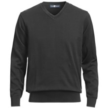 Chase Edward V-Neck Sweater - Pima Cotton (For Men) in Black - Closeouts