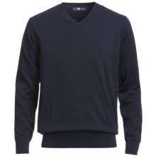 Chase Edward V-Neck Sweater - Pima Cotton (For Men) in Navy - Closeouts
