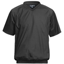 Chase Edward Woven Wind Pullover - Short Sleeve (For Men) in Black - Closeouts