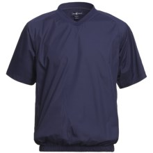 Chase Edward Woven Wind Pullover - Short Sleeve (For Men) in Navy - Closeouts